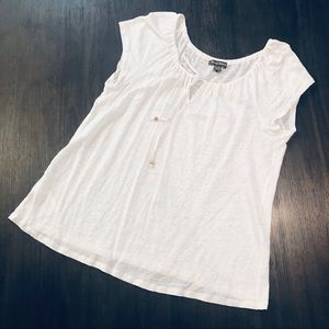 Tommy Bahama Linen Front Tie Peasant Blouse